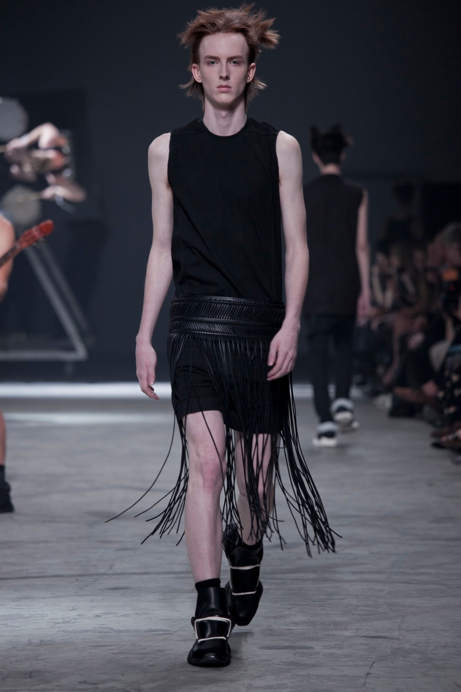 Rick Owens fashion show in Paris, Menswear Spring Summer collection 2014